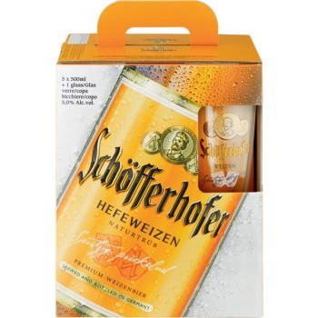 Schöfferhofer Hefeweizen подаръчен комплект